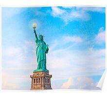 Lift my lamp beside the golden door - The Statue Of Liberty Poster