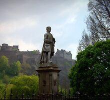 Allan Ramsay Statue in Princes Street Gardens by Kasia-D
