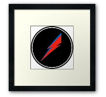 Red/Blue Lightning Bolt  Framed Print