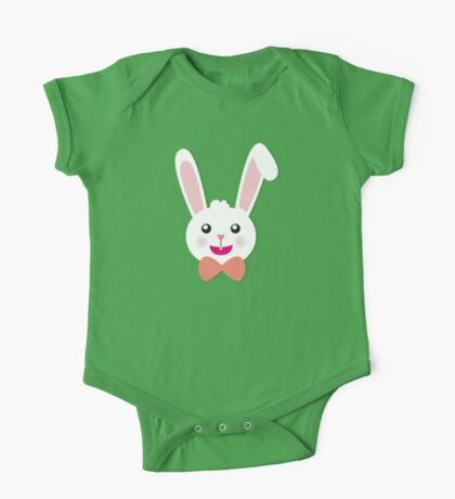 Easter Bunny Bow Tie One Piece - Short Sleeve