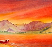 Haystacks and Red Boat-UK Lake District  by LindaTennant