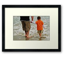 Hold My Hand Daddy Framed Print