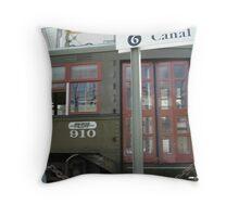 Streetcar Named Canal Throw Pillow