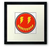 Smile Lightning Bolt Framed Print