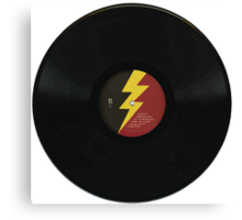 Lightning Bolt Record Canvas Print