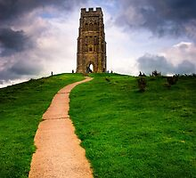 St Michael's Tower Atop Historic Glastonbury tor by Mark Tisdale