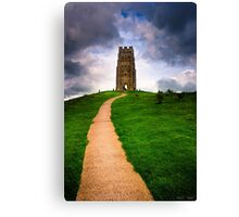 St Michael's Tower Atop Historic Glastonbury tor Canvas Print