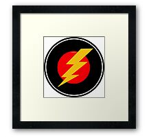 Awesome Lightning Bolt - Cool Case phone and laptop Framed Print