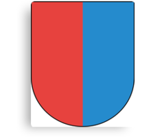 Coat of Arms of Ticino Canton Canvas Print