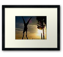 Under a Setting Sun Framed Print