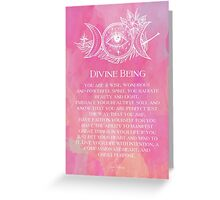 Divine Being Greeting Card