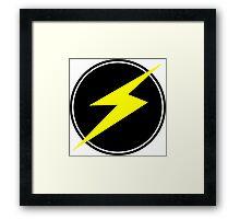 Awesome Lightning Bolt - Circle  Framed Print