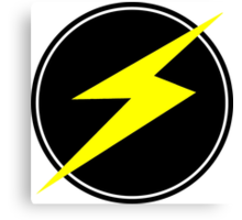 Awesome Lightning Bolt - Circle  Canvas Print