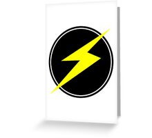 Awesome Lightning Bolt - Circle  Greeting Card