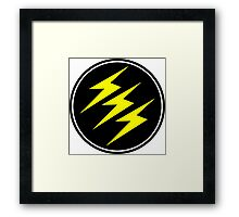 3 Lightning Bolt Superhero Framed Print