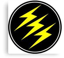 3 Lightning Bolt Superhero Canvas Print