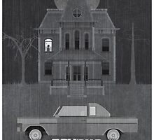 Psycho (1960) - Alfred Hitchcock Print by George Townley