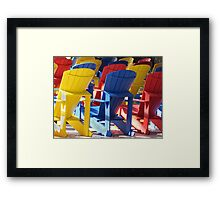 A Place To Sit.... Framed Print