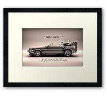 Roads ? Back to the future  Framed Print