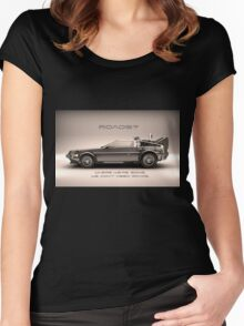 Roads ? Back to the future  Women's Fitted Scoop T-Shirt