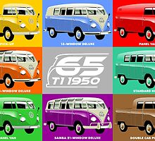 VW Type 2 range 65th anniversary by car2oonz