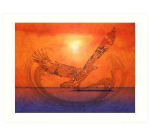 Spirit Eagle - Anpiel Art Print