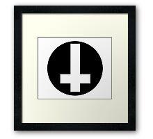 Round Inverted Cross Framed Print