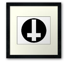 Round Inverted Cross Framed Print