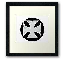 Round Cross Framed Print
