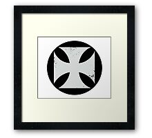 Round Cross Framed Print
