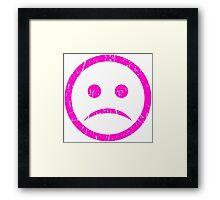 SAD - PINK Framed Print