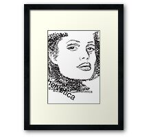 Jolie and helvetica Framed Print
