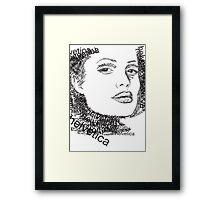 Jolie and helvetica Framed Print