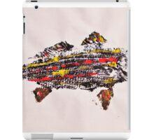 Gyotaku fish rubbing, Florida Redfish, Surreal color iPad Case/Skin