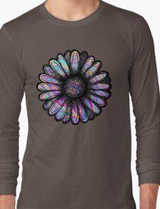 Rainbow Swirl Flower Long Sleeve T-Shirt