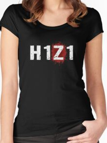 H1Z1: Bloody Z Title - White Ink Women's Fitted Scoop T-Shirt