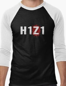 H1Z1: Bloody Z Title - White Ink Men's Baseball ¾ T-Shirt