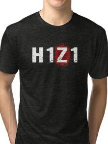 H1Z1: Bloody Z Title - White Ink Tri-blend T-Shirt