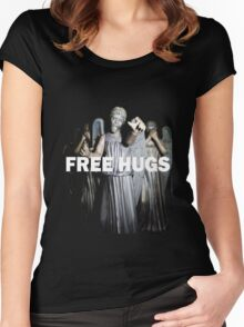 Free Hugs by an Angel Women's Fitted Scoop T-Shirt