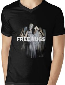 Free Hugs by an Angel Mens V-Neck T-Shirt