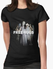 Free Hugs by an Angel Womens Fitted T-Shirt