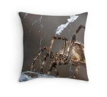 Spider of the night Throw Pillow