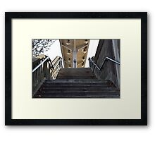 Stairs to the Station Framed Print