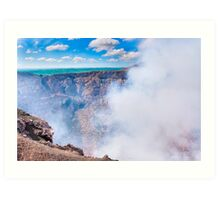 Standing On The Edge Of A Hole In The Earth - Volcano Masaya Art Print