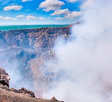 Standing On The Edge Of A Hole In The Earth - Volcano Masaya by Mark Tisdale