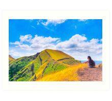 Contemplating Masaya - Ancient Volcanic Ridge Art Print
