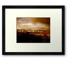The calm after the storm Framed Print