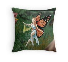 Monarch Fairy Throw Pillow