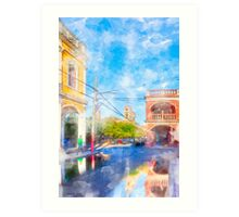 Reflecting On The Colorful Streets Of Granada - Nicaragua Art Print