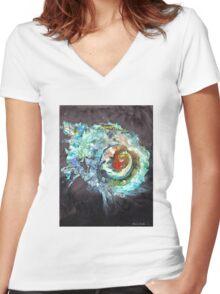 Cosmic Shell Women's Fitted V-Neck T-Shirt